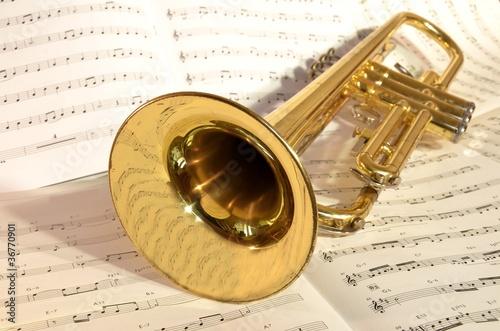 Leinwandbild Motiv Trompete