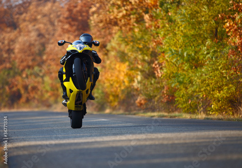 wheelie on motorcycle