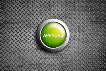approve button on diamond steel texture