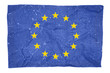 EU damaged flag