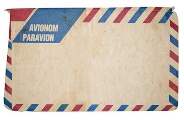 Air mail vintage envelope