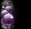Weihnachtsmotiv mit Kugeln in lila