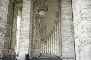 Columned hallway in Saint Peter's Square