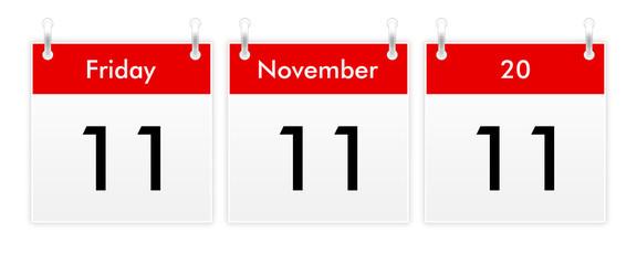 11.11.11 - unique day in 2011 november calendar