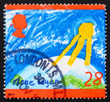 Postage stamp GB 1992 Ozone Layer poster