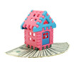 toy house on banknotes