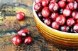 Freshly Washed Cranberries