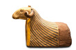 Egyptian ram's mummy isolated with clipping path