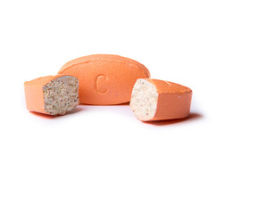 cut up vitamin C pill