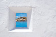 Leinwanddruck Bild - Ibiza mediterranean white wall window