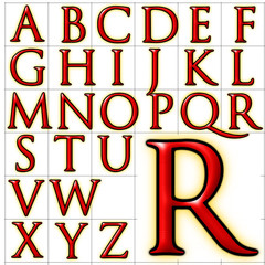 abc alphabet background trajanus design