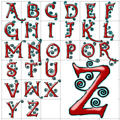 abc alphabet background dear red design