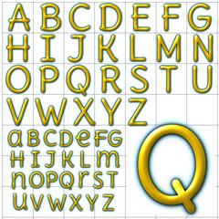 abc alphabet background delius unicase design