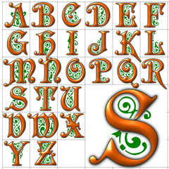 abc alphabet background preciosa design