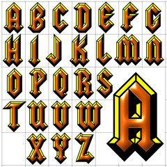 abc alphabet background squealer design