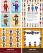 cartoon retro gentleman card collection
