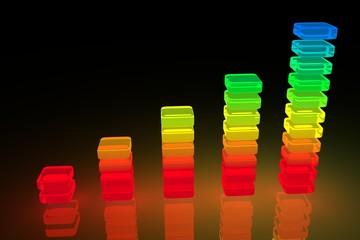Rainbow Glowing Bar Diagram