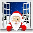 Babbo Natale alla Finestra-Santa Claus at the Window-Vector