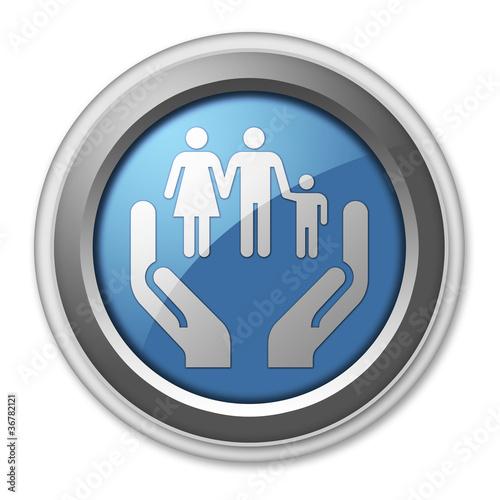 """3D Style Button """"Social Services"""""""