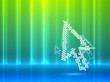 Mouse pointer abstract background
