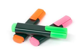 Rotuladores-subrayadores de colores fluorescentes