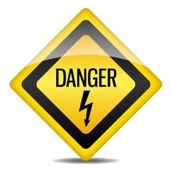 Achtung Warnung Schild Danger Blitz