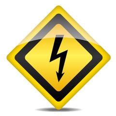 Achtung Warnung Schild Blitz
