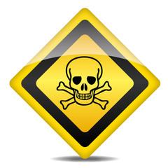 Achtung Warnung Schild Totenkopf Giftig gefährlich