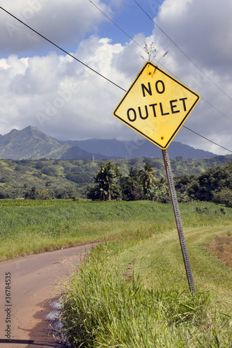 road sign no outlet