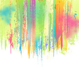 Fototapety Pastel paint splashes background. Vector