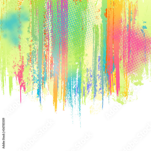 Pastel paint splashes background. Vector