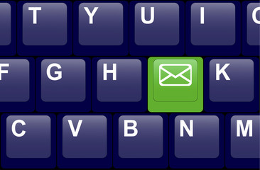 E-mail button on the keyboard