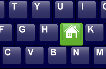 Home button on the keyboard