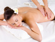 Massage for the back of woman in spa salon