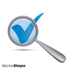 Magnifying glass with check mark