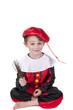 boy dressed up as Dutch black Peter from Sinterklaas