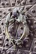 Door handle on a Agha Bozorg mosque, Kashan, Iran