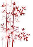 Fototapety Bambus rot