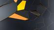 Abstrakter moderner Hintergund Voronoi 3D