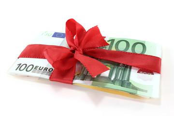 Euronoten mit Schleife