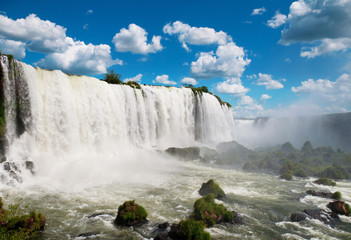 The Iguazu waterfalls. Argentina, Brazil, South America