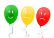 Luftballons Gesichtsausdruck