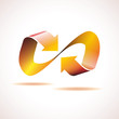 Logo infinite with arrows. Heating concept # Vector