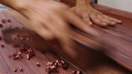 slide wood plane,guitar maker work
