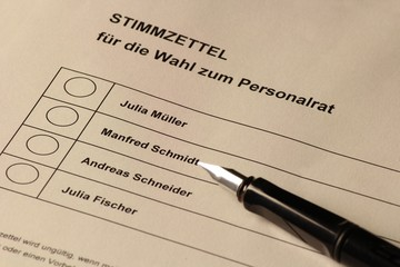 Stimmzettel Personalrat