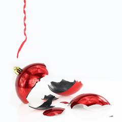Broken Crhistmas red ball