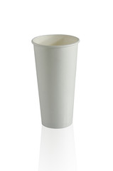 Cup on white background.