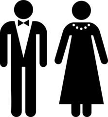 pictograma pareja vestida de gala