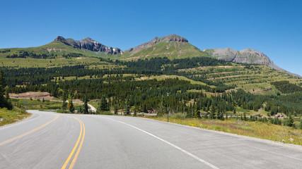 Million Dollar Highway at Molas Pass, Colorado
