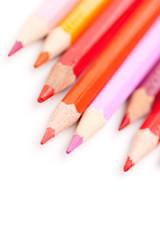 Buntstifte in warmen Farben